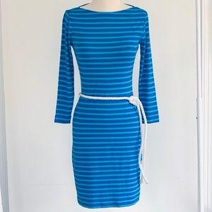 NWOT Sara Campbell Blue Striped Dress